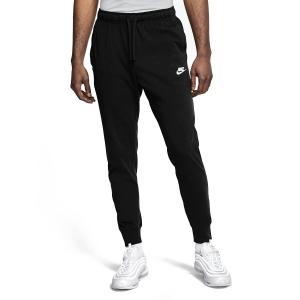 Pantaloni e Tights Tennis Uomo Nike Club Jersey Pantaloni  Black/White BV2762010