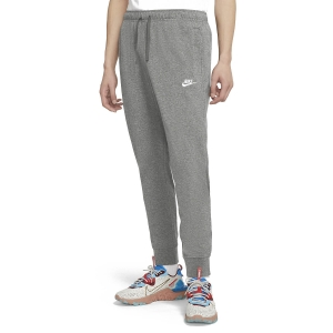 Men's Tennis Pants and Tights Nike Club Jersey Pants  Dark Grey Heather/White BV2762063
