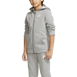 Boy Tracksuit and Hoodie Nike Core Suit Boy  Carbon Heather/Dark Grey/White BV3634091