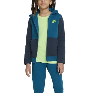 Boy Tracksuit and Hoodie Nike Core Suit Boy  Green Abyss/Deep Ocean/Volt BV3634301