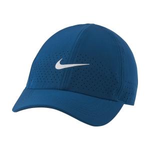 Gorras de Tenis Nike Court Aerobill Advantage Gorra  Green Abyss/White CQ9332301
