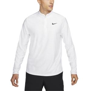 Men's Tennis Shirts and Hoodies Nike Court Breathe Advantage Shirt  White/Black CV2866100