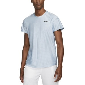 Maglietta Tennis Uomo Nike Court Breathe Advantage Maglietta  Light Armory Blue/Black CV5032440