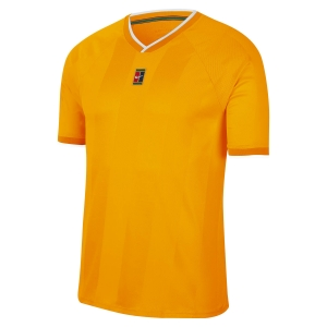 Men's Tennis Shirts Nike Court Breathe Slam TShirt  Sundial/White CK9799717