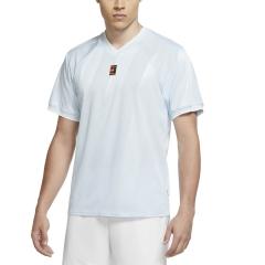 Nike Court Breathe Slam T-Shirt - Topaz Mist/White