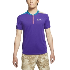 Nike Court Breathe Classic Slam Polo - Court Purple/Green Abyss/White