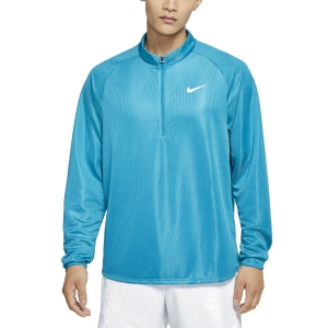 Men's Tennis Shirts and Hoodies Nike Court Challenger Shirt  Neo Turquoise/White CK9822425
