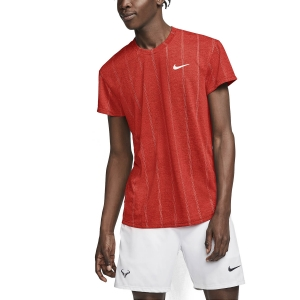 Men's Tennis Shirts Nike Court Challenger TShirt  Habanero Red/White CI9146634