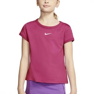 Top y Camisetas Niña Nike Court DriFIT Camiseta Nina  Vivid Pink/White CQ5386616