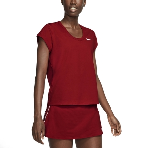 Women`s Tennis T-Shirts and Polos Nike Court DriFIT TShirt  Gym Red/White CQ5364687