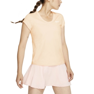 Camisetas y Polos de Tenis Mujer Nike Court DriFIT Camiseta  Sunblush/White CQ5364838