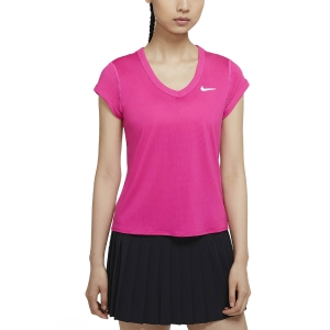 Women`s Tennis T-Shirts and Polos Nike Court DriFIT TShirt  Vivid Pink/White CQ5364616