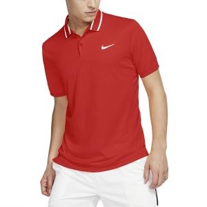 Men's Tennis Polo Nike Court DriFIT Polo  Habanero Red/White BV1194634