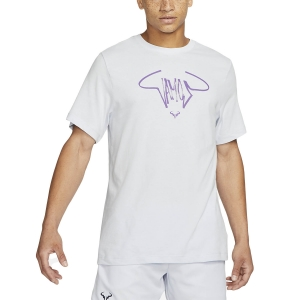 Men's Tennis Shirts Nike Court DriFIT Rafa TShirt  Football Grey/Wild Berry DC5364085