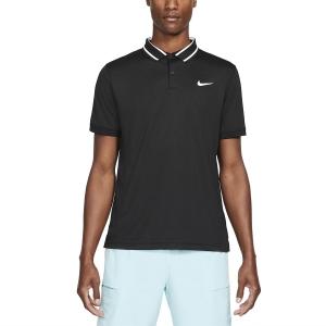 Polo Tennis Uomo Nike Court DriFIT Victory Polo  Black/White CW6848010