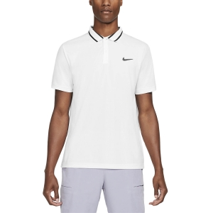 Polo Tennis Uomo Nike Court DriFIT Victory Polo  White/Black CW6848100