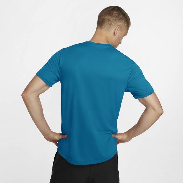 Nike Court Dry T-Shirt - Neo Turquoise/White