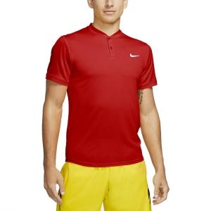 Men's Tennis Polo Nike Court Dry Polo  Habanero Red/White AQ7732636