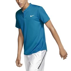 Polo Tenis Hombre Nike Court Dry Polo  Neo Turquoise/White AQ7732425