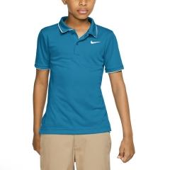 Nike Court Dry Team Polo Boy - Neo Turquoise/White
