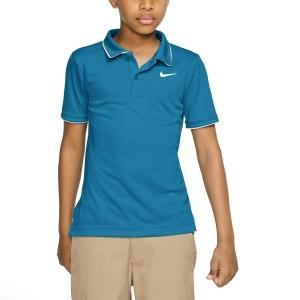 Tennis Polo and Shirts Nike Court Dry Team Polo Boy  Neo Turquoise/White BQ8792425