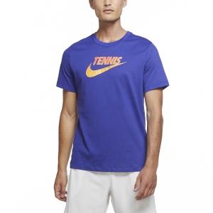 Men's Tennis Shirts Nike Court Graphic TShirt  Light Concord/Laser Orange/Laser Crimson CW1532471