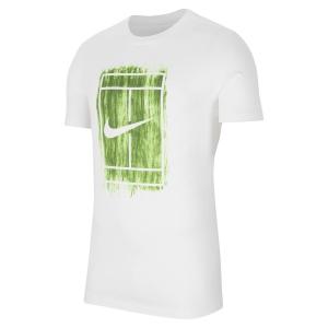 Maglietta Tennis Uomo Nike Court Graphic Maglietta  White CW1528100