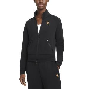 Chaquetas de Tenis Mujer Nike Court Heritage FullZip Chaqueta  Black CV4701010