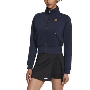 Chaquetas de Tenis Mujer Nike Court Heritage FullZip Chaqueta  Obsidian/White CV4701451