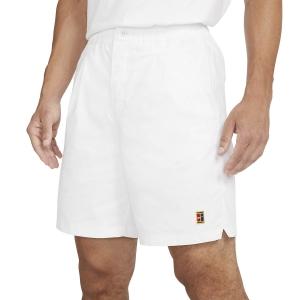 Pantaloncini Tennis Uomo Nike Court Heritage 8in Pantaloncini  White CK9845100