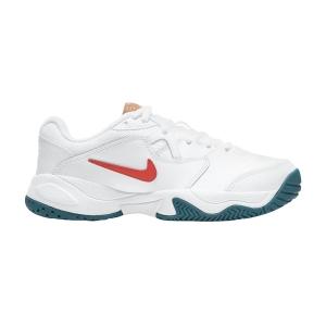 Scarpe Tennis Junior Nike Court Lite 2 Bambino  White/Team Orange/Green Abyss/Praline CD0440106