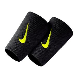Tennis Wristbands Nike Premier DoubleWide Wristbands  Black/Volt N.NN.51.023.OS
