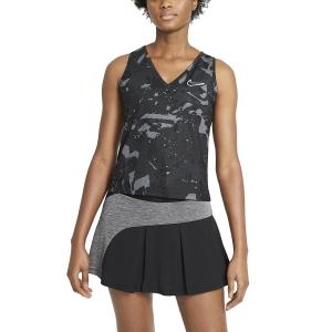 Women`s Tennis Tanks Nike Court Printed Victory Tank  Black/White CV4742010