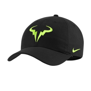 Tennis Hats and Visors Nike Court Rafa Aerobill H86 Cap  Black/Volt 850666013