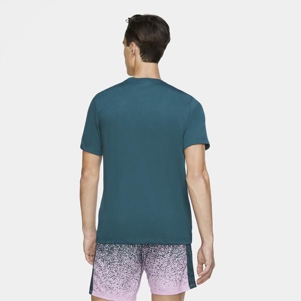 Nike Court Rafa Nadal T-Shirt - Dark Atomic Teal/Cactus Flower/White