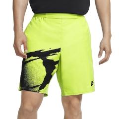Nike Court Slam 8in Shorts - Hot Lime/Black