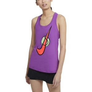 Top de Tenis Mujer Nike Court Swoosh Top  Purple Nebula DC5252528