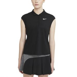 Magliette e Polo Tennis Donna Nike Court Victory Classic Canotta  Black/White CV2473010