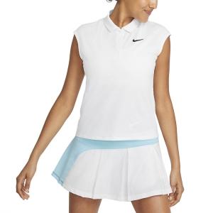 Magliette e Polo Tennis Donna Nike Court Victory Classic Canotta  White/Black CV2473100