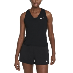 Top de Tenis Mujer Nike Court Victory Logo Top  Black/White CV4784010