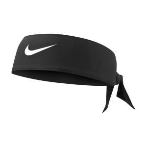 Tennis Headbands Nike DriFIT Tie 3.0 Headband  Black/White N.000.3706.010.OS