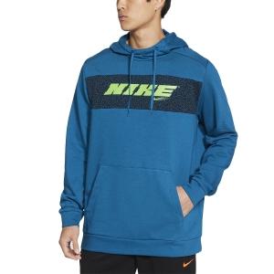 Men's Tennis Shirts and Hoodies Nike DriFIT Sport Clash Hoodie  Green Abyss/Mean Green CZ1484301