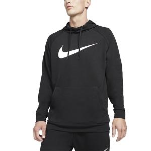 Men's Tennis Shirts and Hoodies Nike DriFIT Training Swoosh Hoodie  Black/White CZ2425010