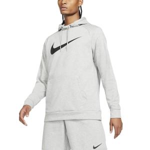 Men's Tennis Shirts and Hoodies Nike DriFIT Training Swoosh Hoodie  Dark Grey/Heather Black CZ2425063