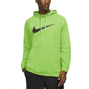 Men's Tennis Shirts and Hoodies Nike DriFIT Training Swoosh Hoodie  Mean Green/Black CZ2425304
