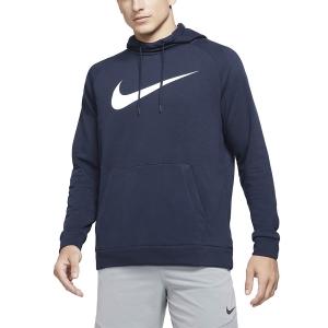 Men's Tennis Shirts and Hoodies Nike DriFIT Training Swoosh Hoodie  Obsidian/White CZ2425451