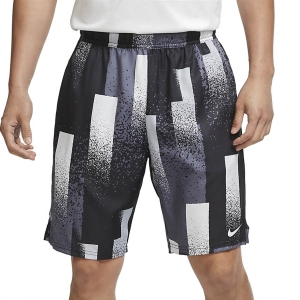 Men's Tennis Shorts Nike Dry Print 9in Shorts  Black/White CK9771010
