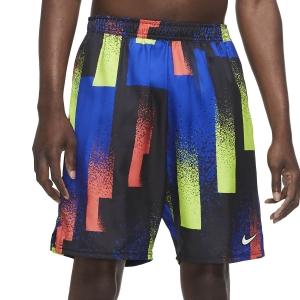 Men's Tennis Shorts Nike Dry Print 9in Shorts  Hyper Royal/White CK9771451