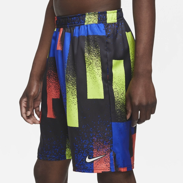 Nike Dry Print 9in Shorts - Hyper Royal/White
