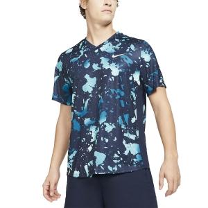 Camisetas de Tenis Hombre Nike Dry Victory Print Camiseta  Obsidian/White CV3135451